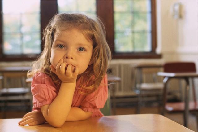 Little Girl in Classroom