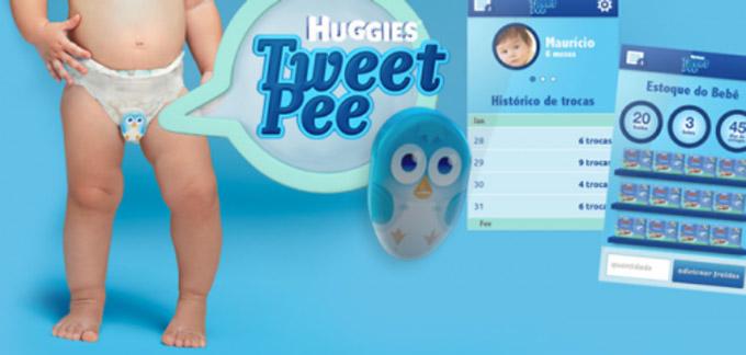 Recibe un tweet cuando el pañal de tu bebé necesita cambio